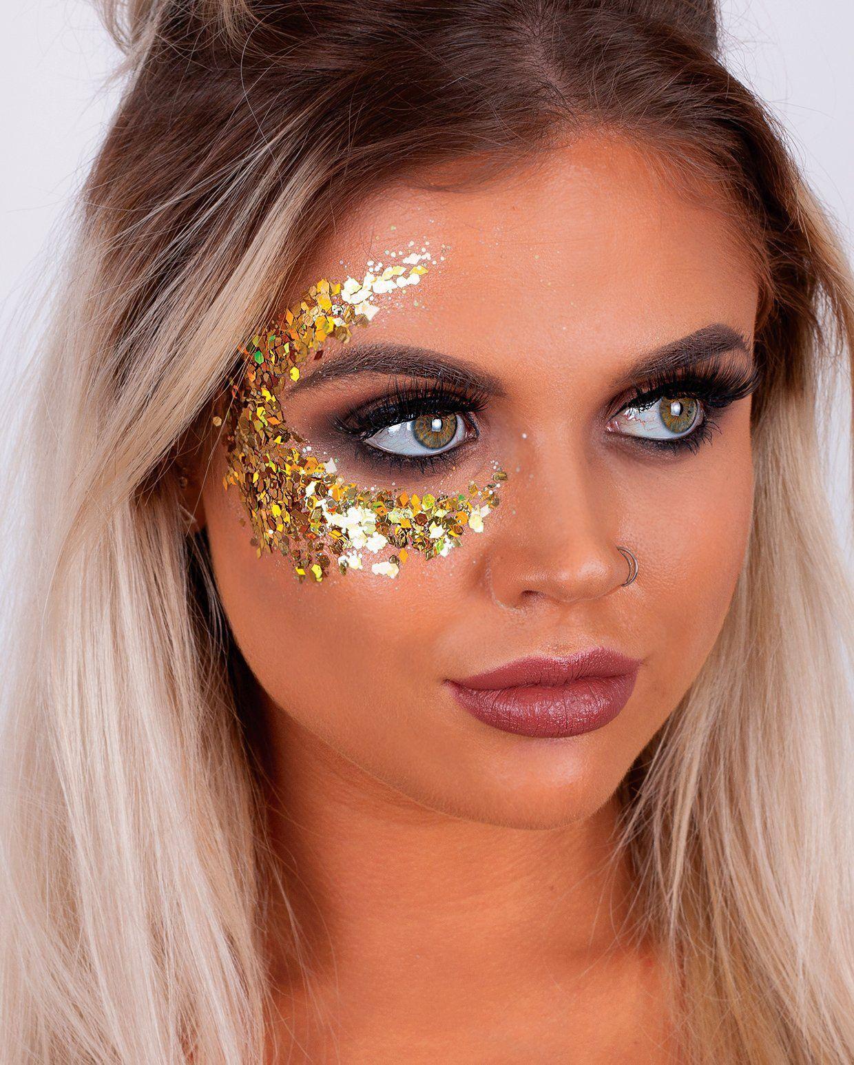 CHUNKY GOLD GLITTER Chunky Glitter Gold in 2020 Gold