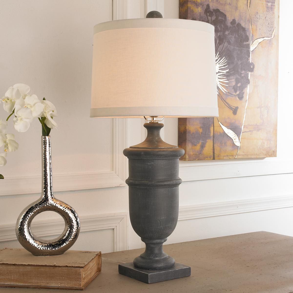 Weathered Garden Urn Table Lamp Table Lamp Shades