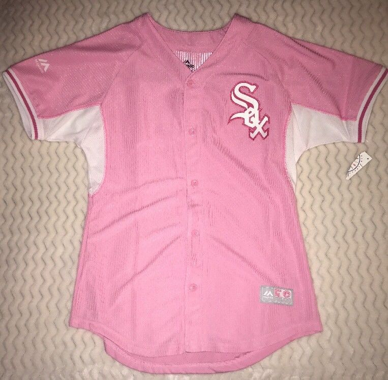 d326d98193e Majestic MLB Chicago White Sox Youth Girls Baseball Jersey NWT XL 16 Pink