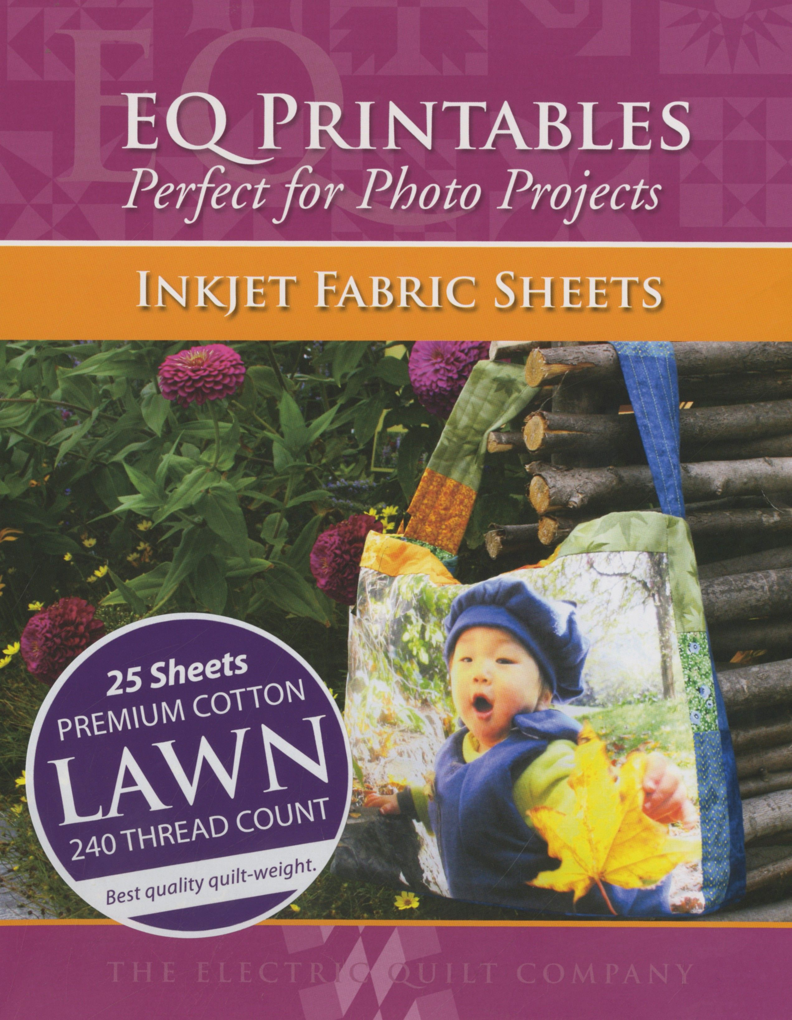 photo about Printable Fabric Sheets for Quilting known as Quality Cotton Property Inkjet Cloth 25 Sheets for every pack