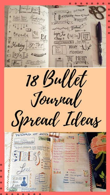 18 Bullet Journal Spread Ideas With Pictures And Flip Through Bujo Journaling