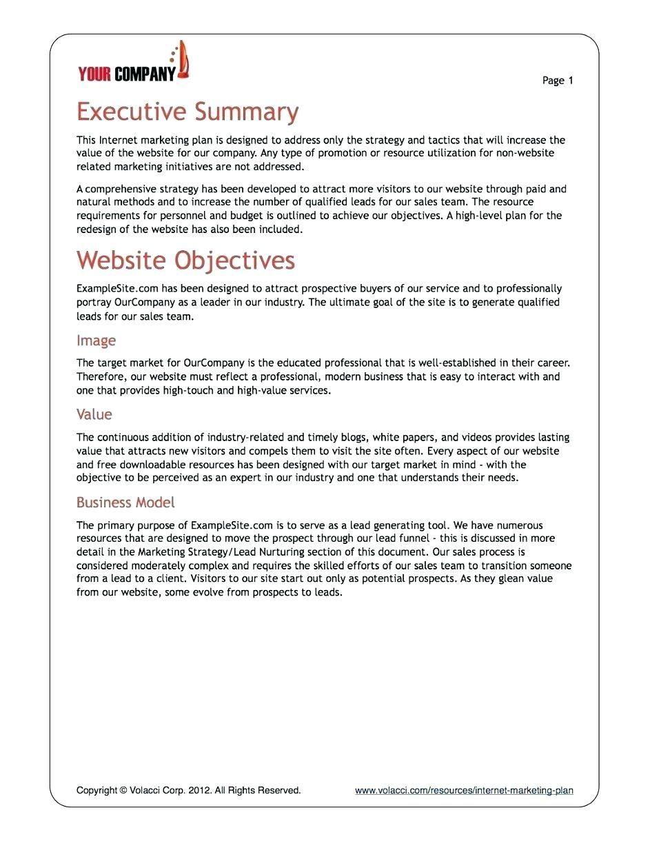 Business Plans Sample Plan Template Pdf Samples Excel Doc