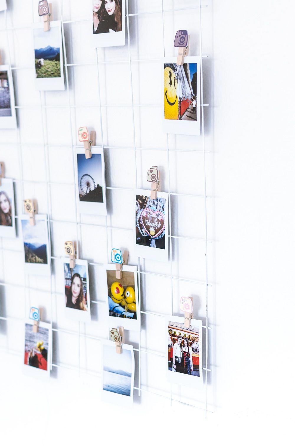 DIY: Grid Wall für Fotos | Pinterest | Einfach, Fotowand und Diy ...