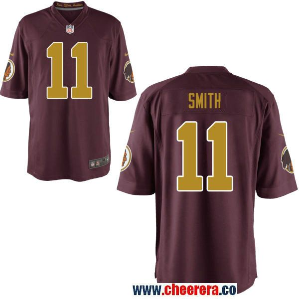best sneakers 4f294 be0c7 Men's Washington Redskins #11 Alex Smith Red With Gold ...