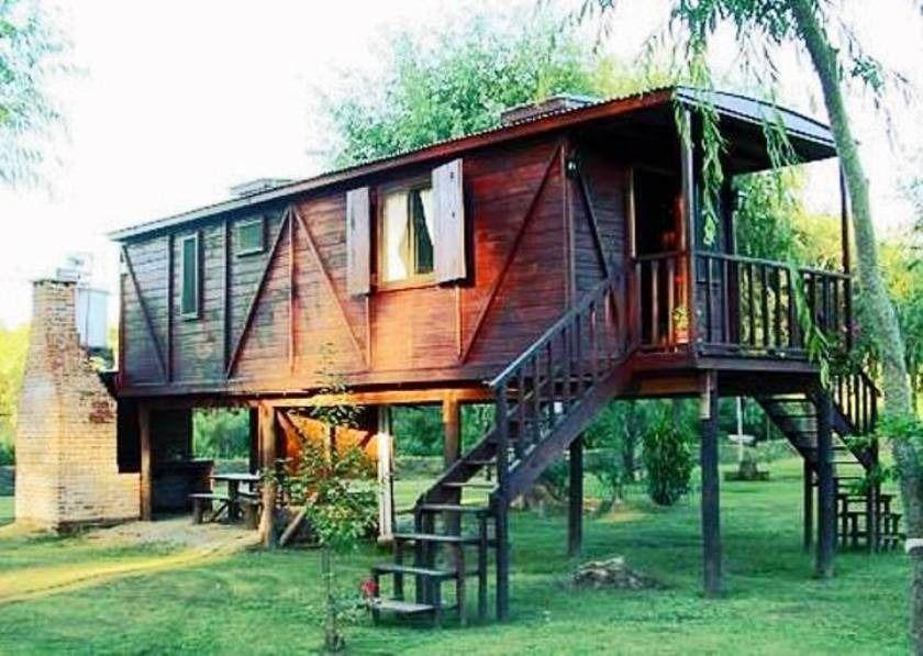 Caba as vagones bungalows alpinas troncos madera piedra - Construccion de bungalows ...