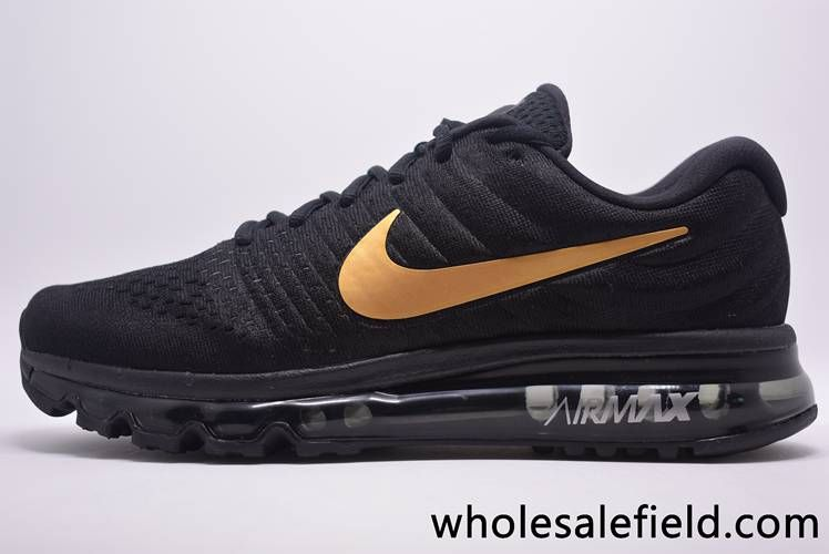 8411ad39ee spain original new coming nike air max 2017 mesh black gold top quality hot  sale original