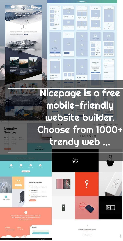 Nicepage is a free mobilefriendly website builder. Choose