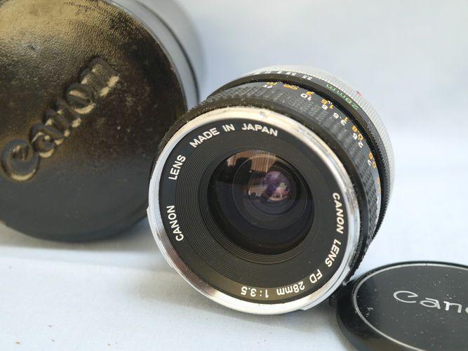 Silver Nose Canon Fd 28mm F 3 5 Vintage Lenses Canon Lens Canon