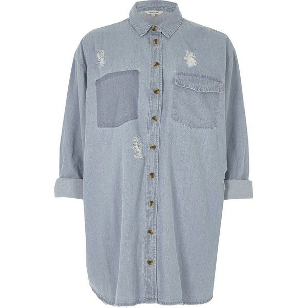 Footlocker Nicekicks Cheap Online Womens Blue ripped denim shirt dress River Island Huge Surprise zhmEd