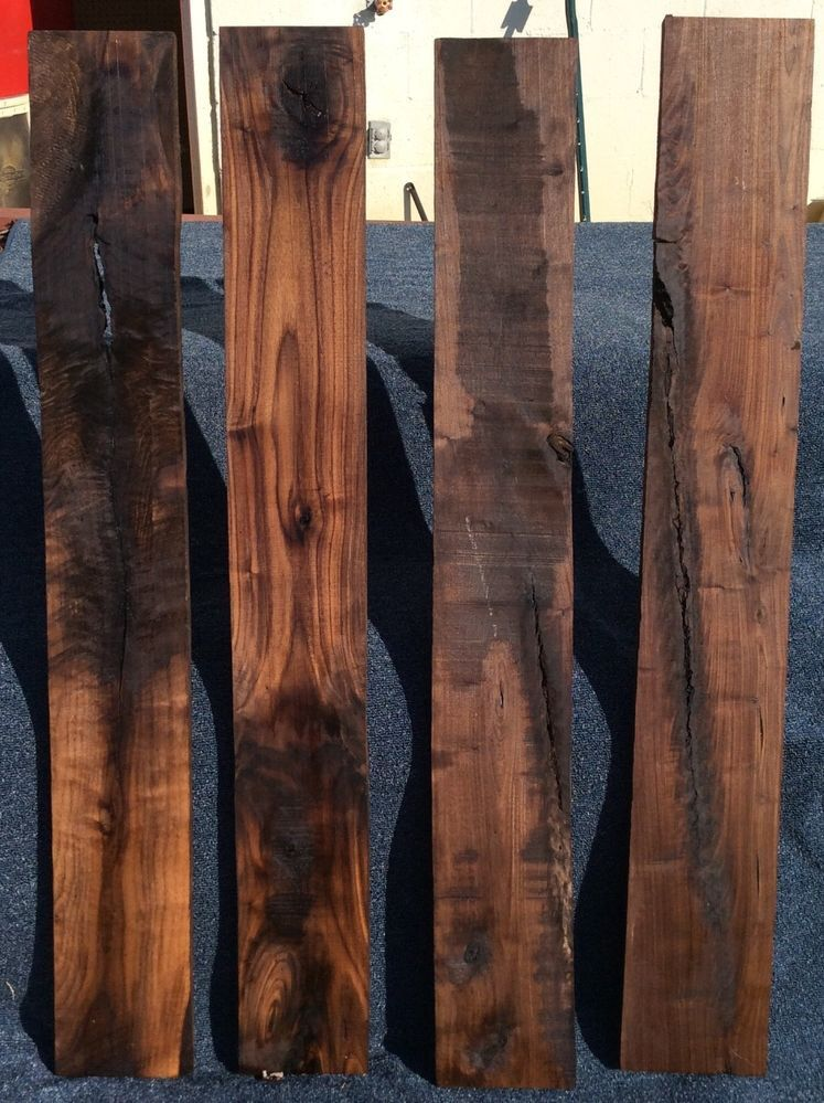 Rustic Reclaimed Black Walnut Craft Lumber
