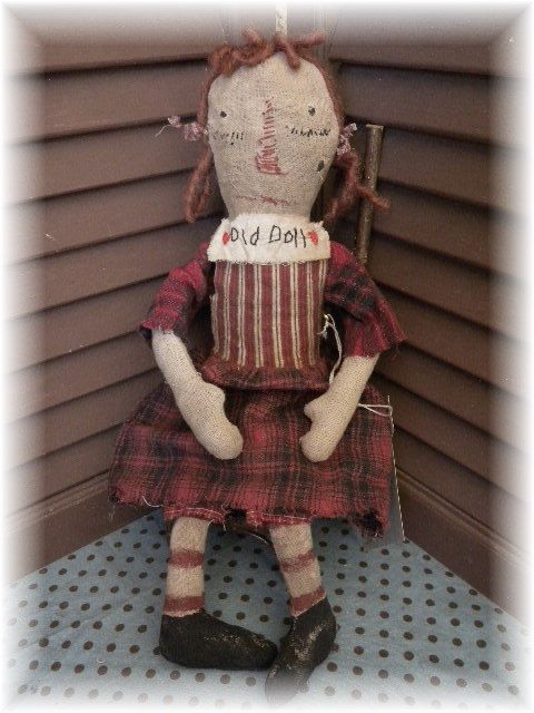 Primitive Doll Primitive Old Doll Primitive Raggedy by mustardseed