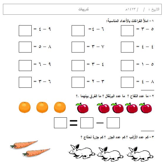 ورقة عمل على الطرح فى الحساب لاولى ابتدائى سكرين شوت حمل من المرفقات Alphabet Worksheets Christmas Tree Cards Arabic Alphabet