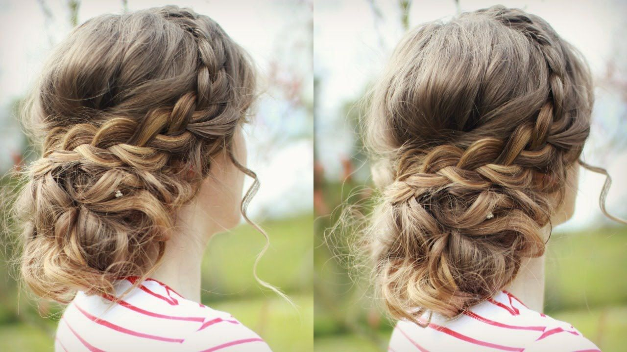 Diy curly updo messy updo prom braidsandstyles love the way