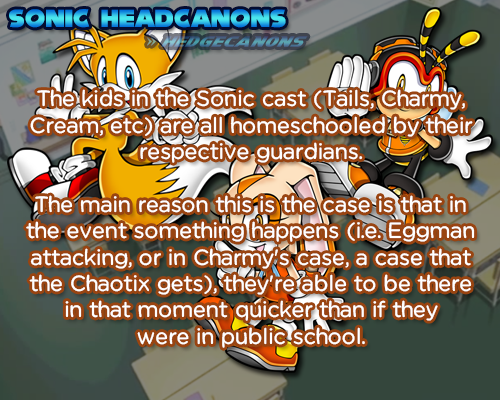 Http Hedgecanons Tumblr Com Post 130950435511 The Kids In The Sonic Cast Tails Charmy Cream Sonic Headcanon Fun Facts