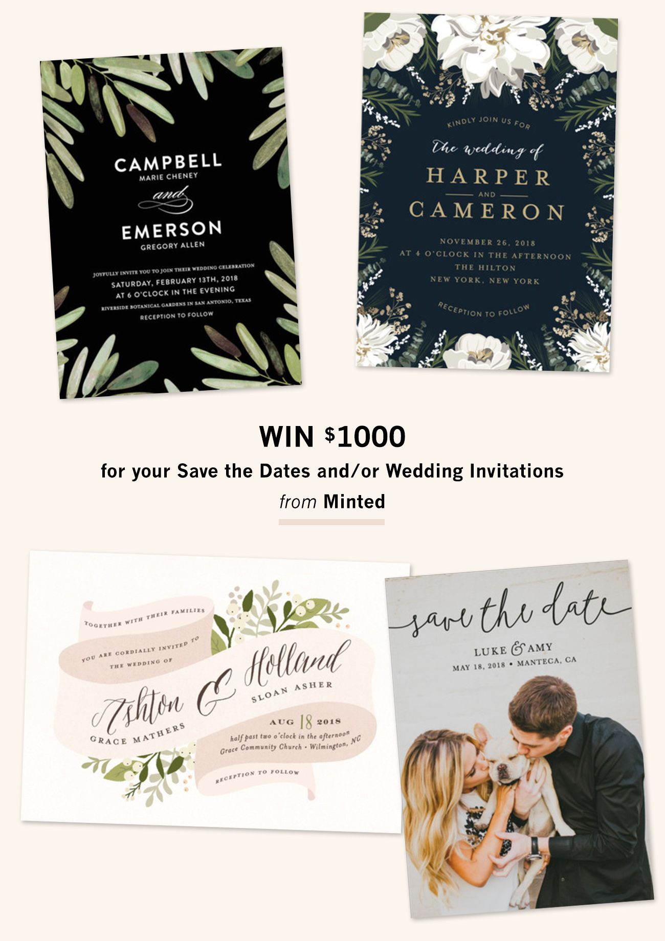 Invitation Suites from Minted + 1000 Giveaway Photo