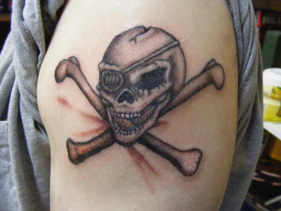 skull and cross bones tattoo | my art | Pinterest