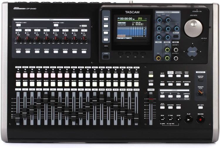 24-channel Digital Portastudio Standalone Recorder with 8 Simultaneous Mic Pres/Line-level Inputs, Onboard Effects, Built-in Signal Processing, USB Connectivity, and 2GB SD Card