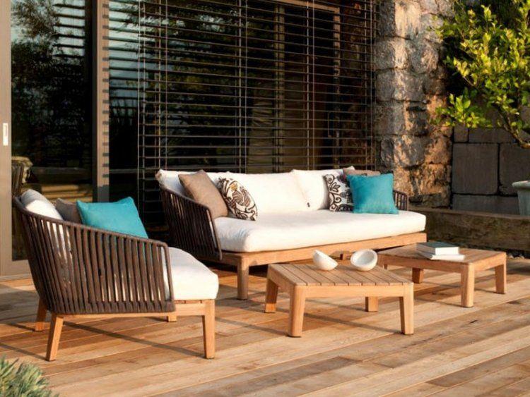 Stunning Salon De Jardin Canape Teck Images - Amazing House Design ...