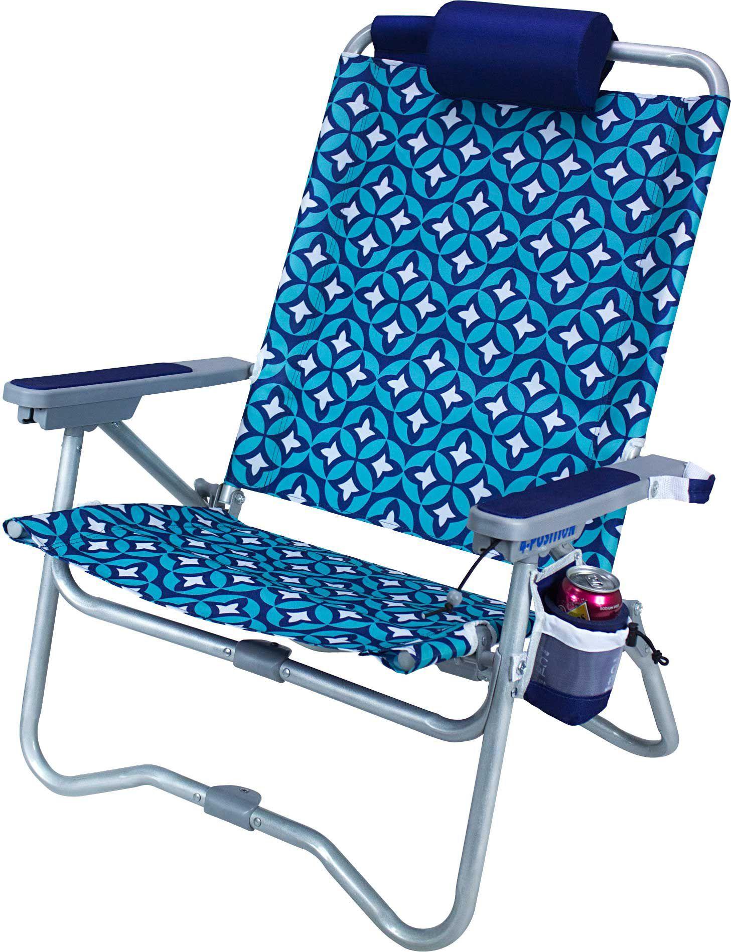 GCI Waterside BiFold Beach Chair, Blue Chair, Beach