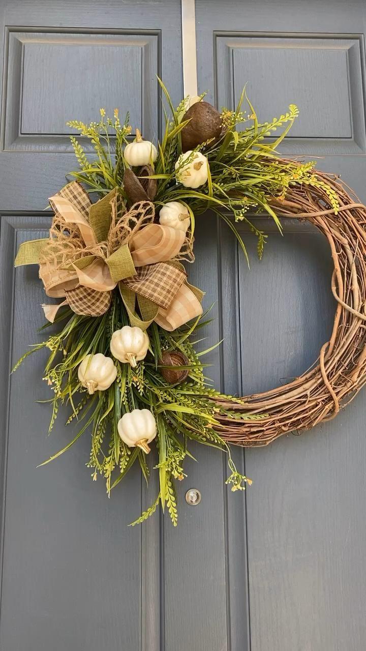 Wood & Burlap Natural Fall Wreath – Finding Home F