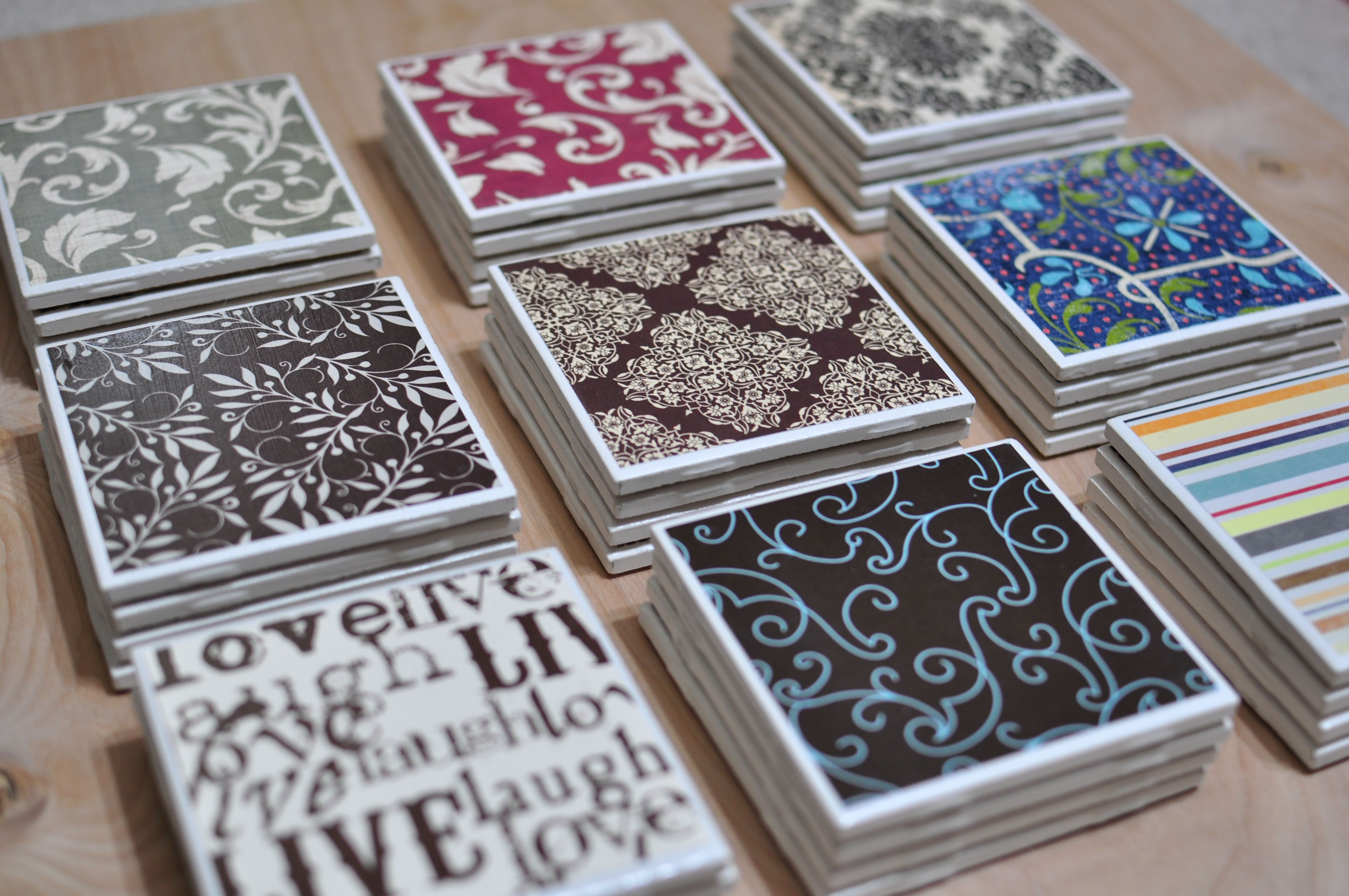 Diy Coasters Using Inexpensive Ceramic Tiles From Home Improvement