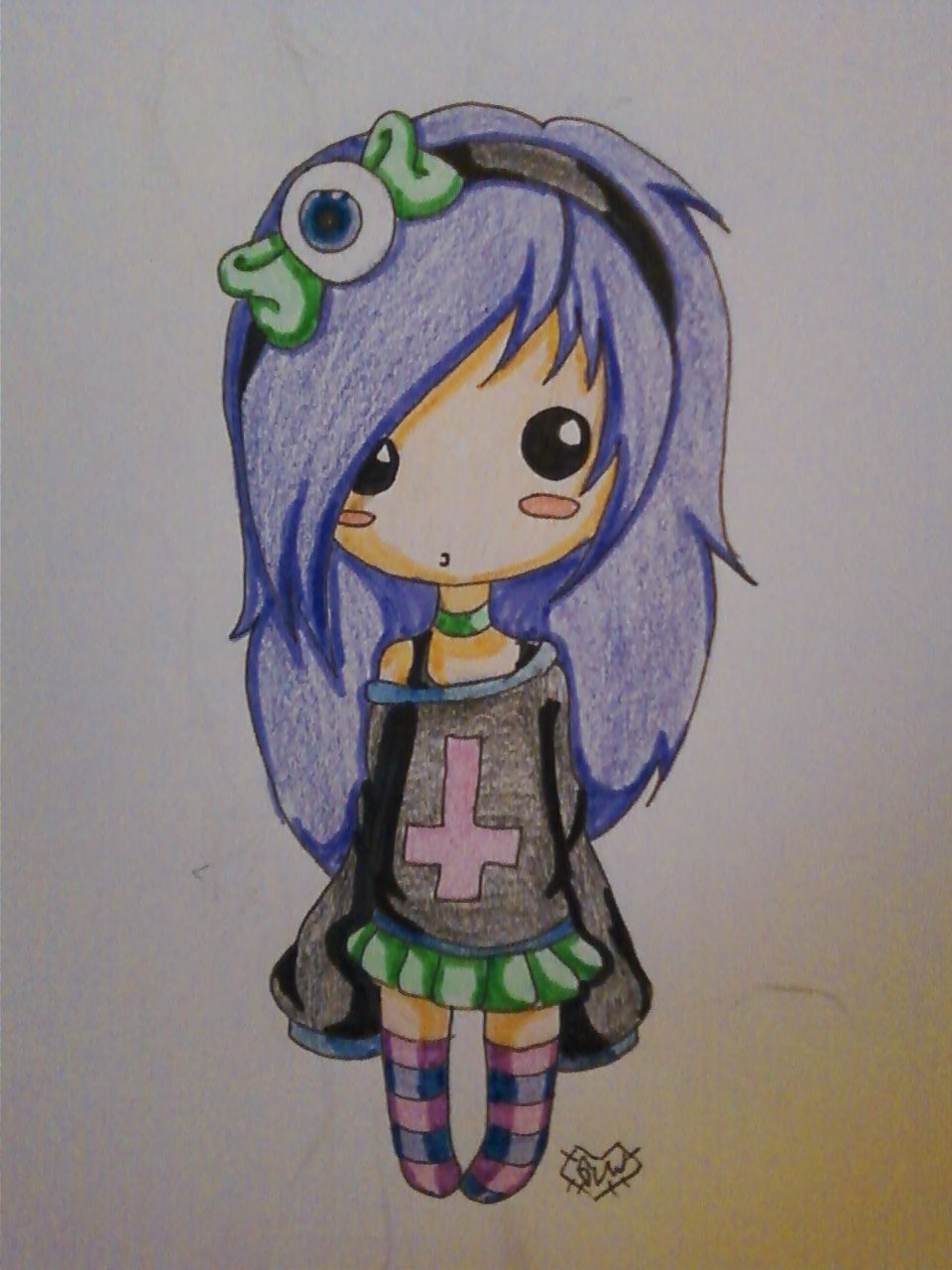 Cute Chibi pastel goth girl =^-^= Wow she is so popular O.o tee hee