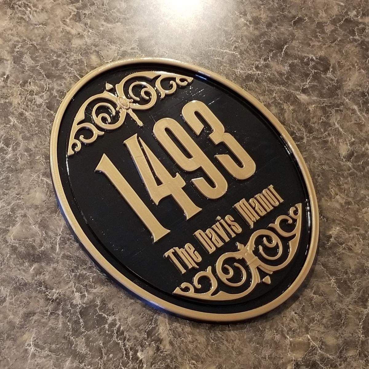 Personalized Haunted Mansion Inspired Address Sign Plaque W Family Name Address Sign Disney Home Decor Plaque Sign