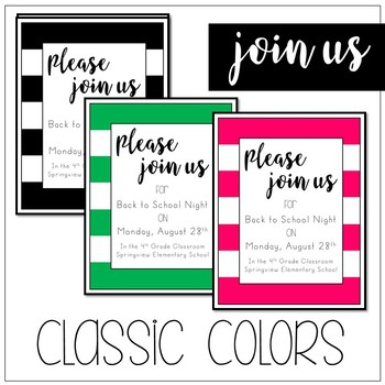 Join Us! Invitation Cards by Spaids in the Classroom | TpT