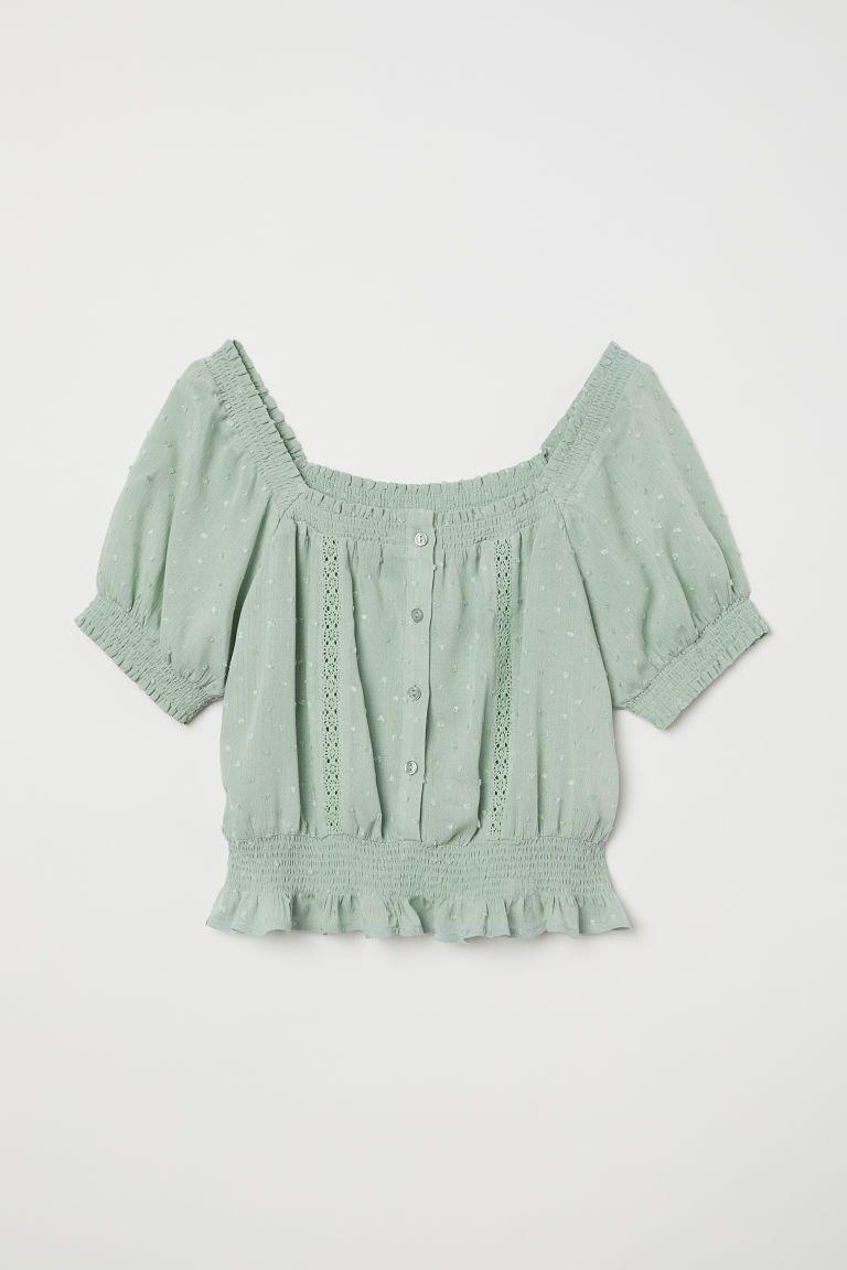 H&m green lace dress  HuM Texturedweave Blouse  Green  Wish List  Pinterest  Ruffle