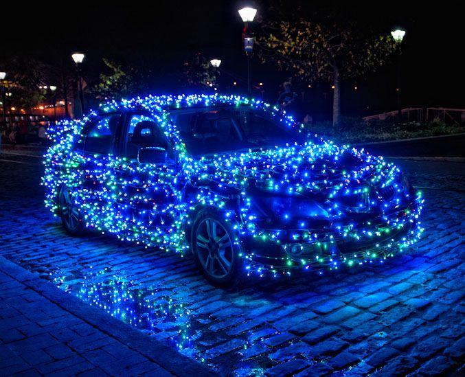 Christmas Light Cars And Trucks Improvised Life Christmas Car Christmas Car Decorations Holiday Car