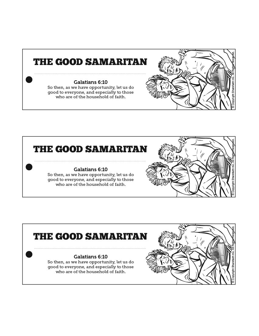 Good samaritan sunday school craft - The Good Samaritan Bible Bookmarks The Good Samaritan Is A Powerful Parable Told By The