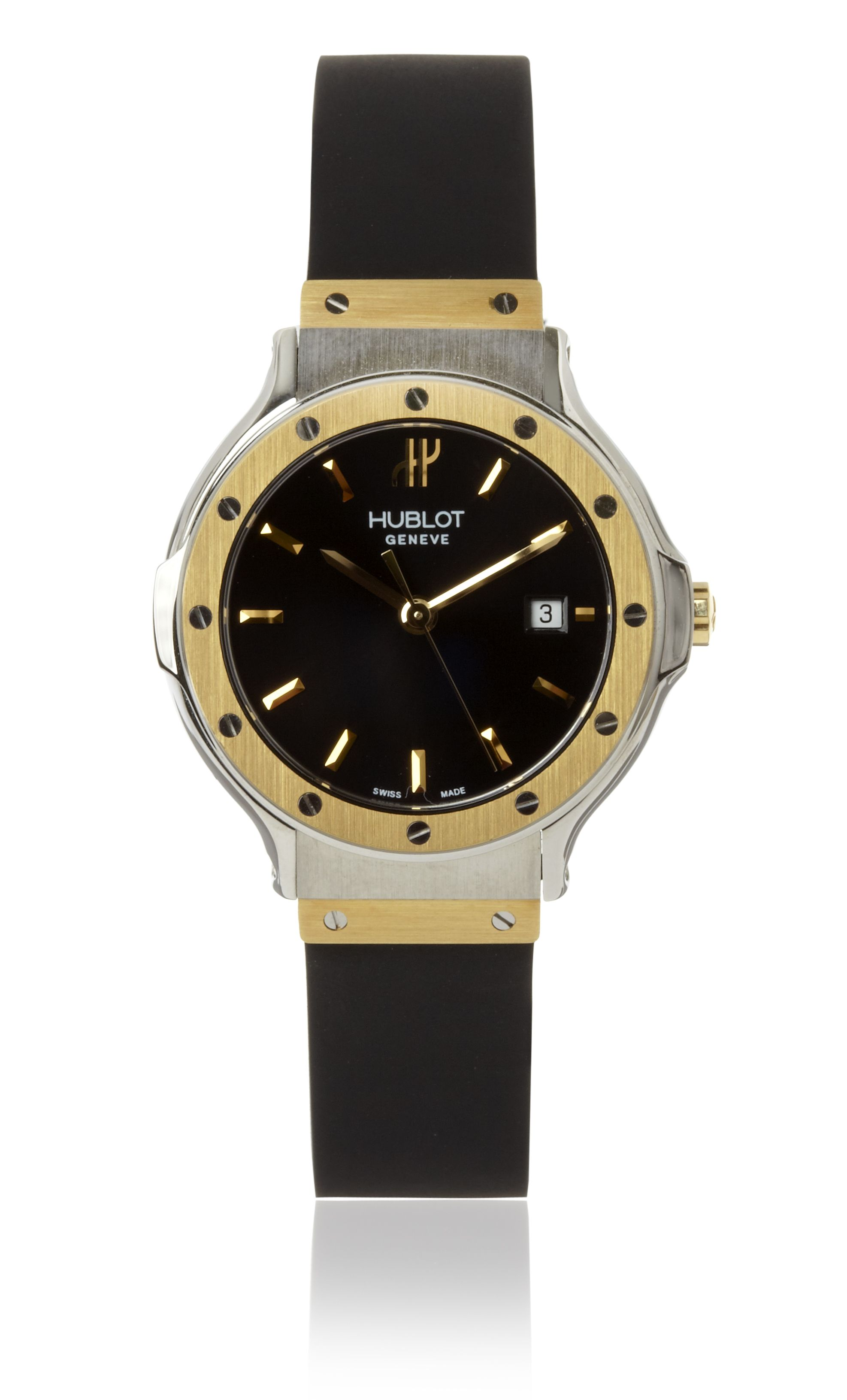 classic quality dial ultra copy high thin black hublot fusion replica watches