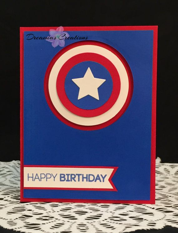 Captain America Happy Birthday Card