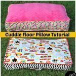 Tutorial: Dining room chair pad with removable cover Tutorial: Cuddle Floor Pillows | sew round