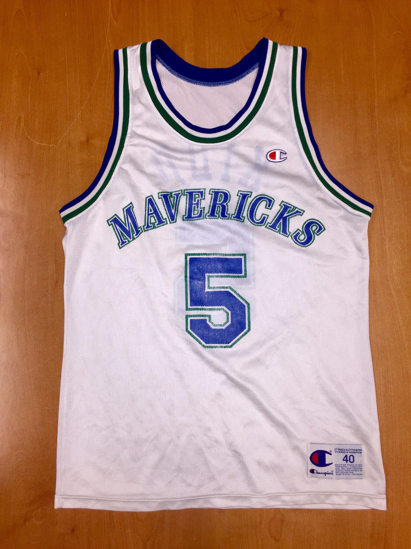 Vintage 1995 - 1998 Jason Kidd Dallas Mavericks Champion Jersey Size 40 hat  shirt mavs rolando blackman cedric ceballos berkeley nba finals by ... ee4c96e3a