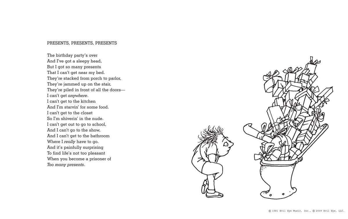 "The Voice By Shel Silverstein: Shel Silverstein ""Presents, Presents, Presents"""
