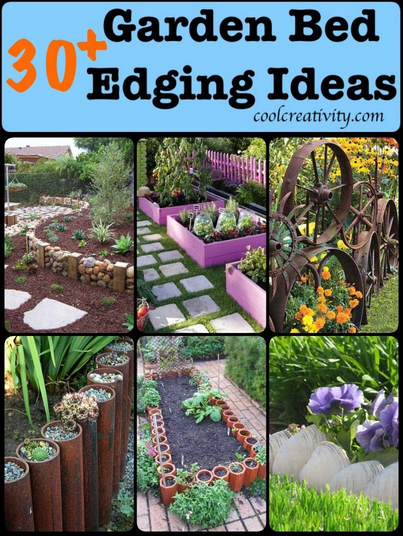 30+ DIY Garden Bed Edging Ideas is part of Landscaping with rocks, Garden edging, Garden edging ideas cheap, Garden beds, Diy garden bed, Flower garden borders - Do you want to change your ordinary and boring garden borders  Here's a collection of creative Garden Bed Edging Ideas to keep your flowers in