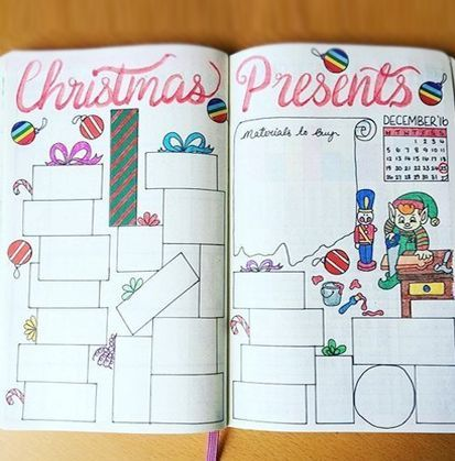 Christmas Bullet Journal Ideas | Wellella Bullet Journal Ideas & Planner Printables