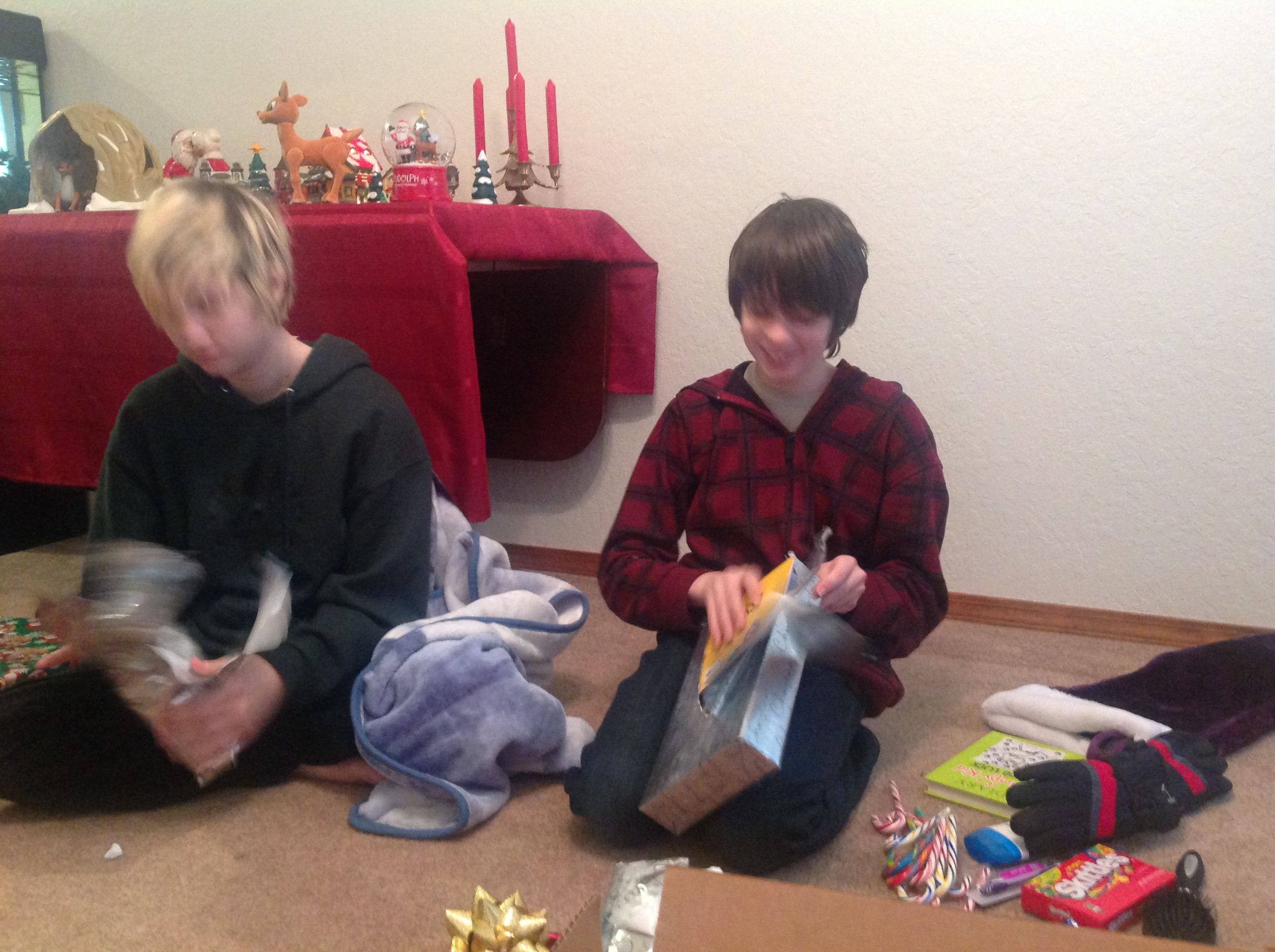 Middle Gal and Little Guy - more presents