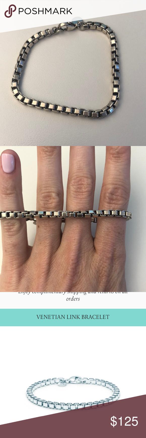 ced4a63dfeec5 tiffany's venetian link bracelet • just got professional cleaned by  tiffany's • sterling silver Tiffany & Co. Jewelry Bracelets