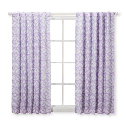 Light Blocking Curtain Panels Pretty In Purple 2pk Cloud Island