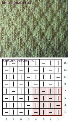 Photo of Узоры плотного вязания спицами Ромбики из л…
