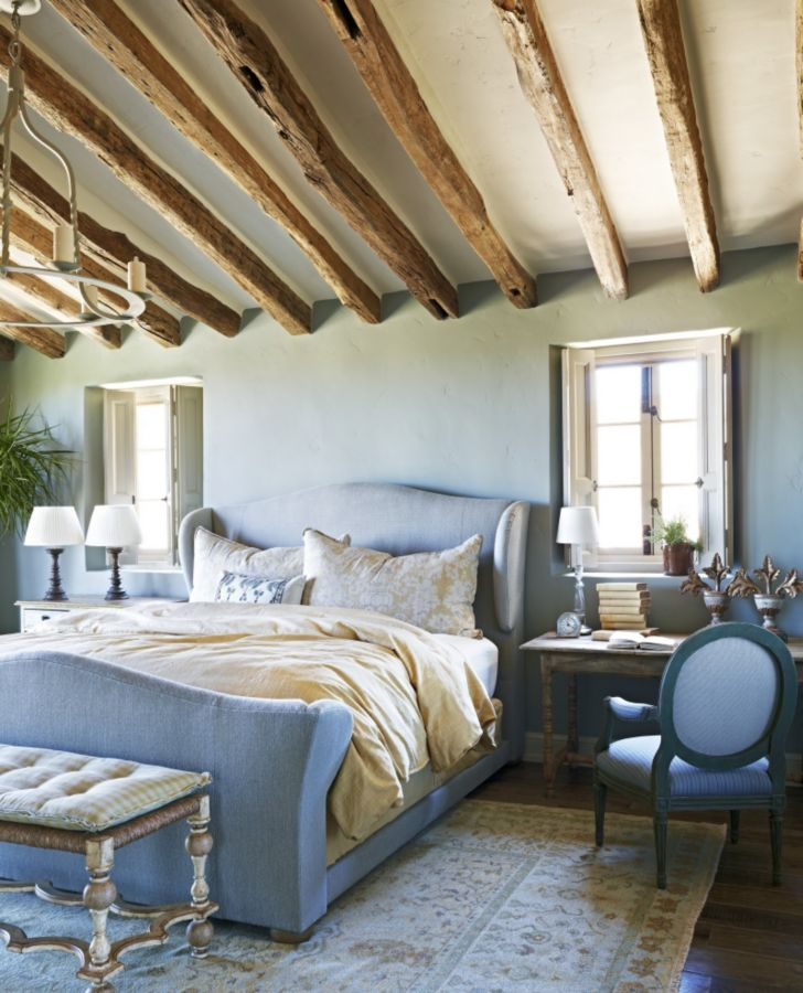 A Pale Blue Palette Gives A Relaxing Vibe To This Bedroom