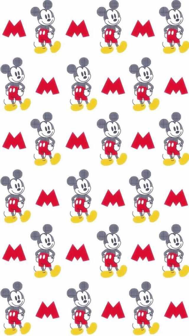 Mickey Minnie Mouse Pattern Wallpaper Iphone Wallpapers 6