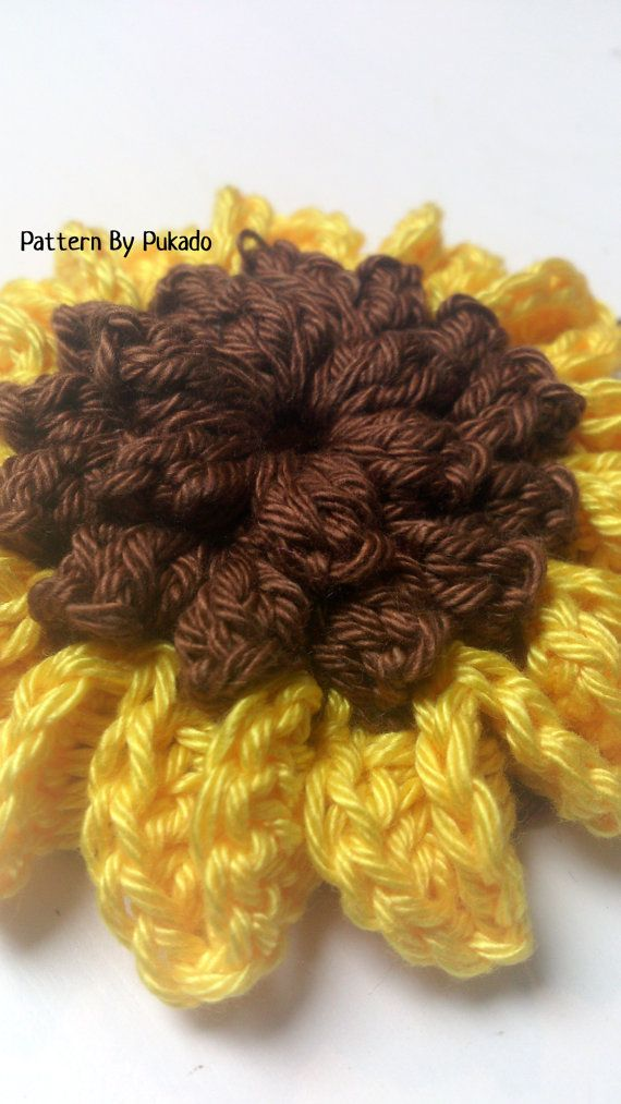 Crochet Pattern Sunflower and Sunflower Granny Square by Pukado on ...