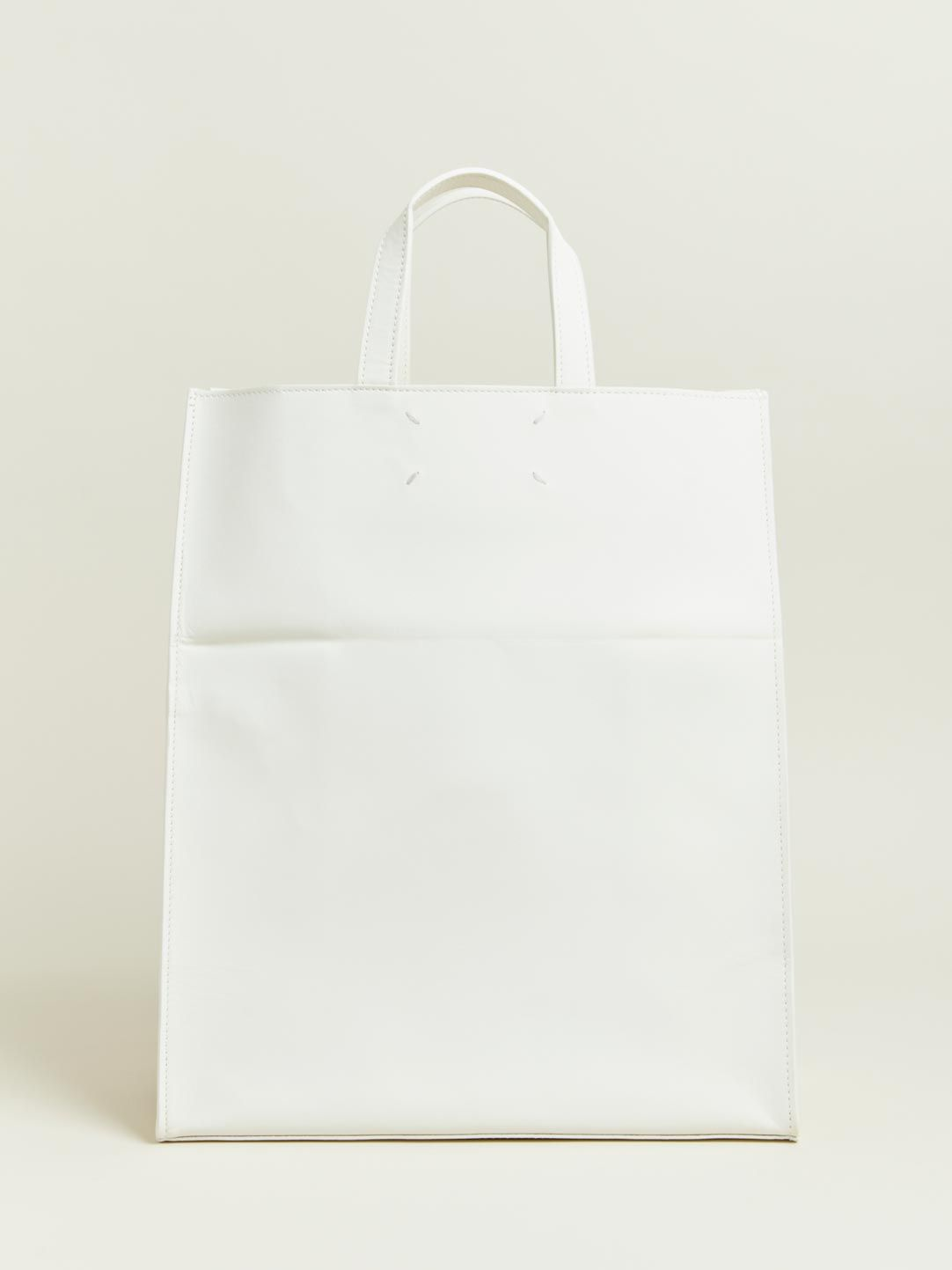 White Leather Tote Maison Martin Margiela Outlet Official Site Clearance Classic Cheapest Price Online Official Site For Sale jqRVSo