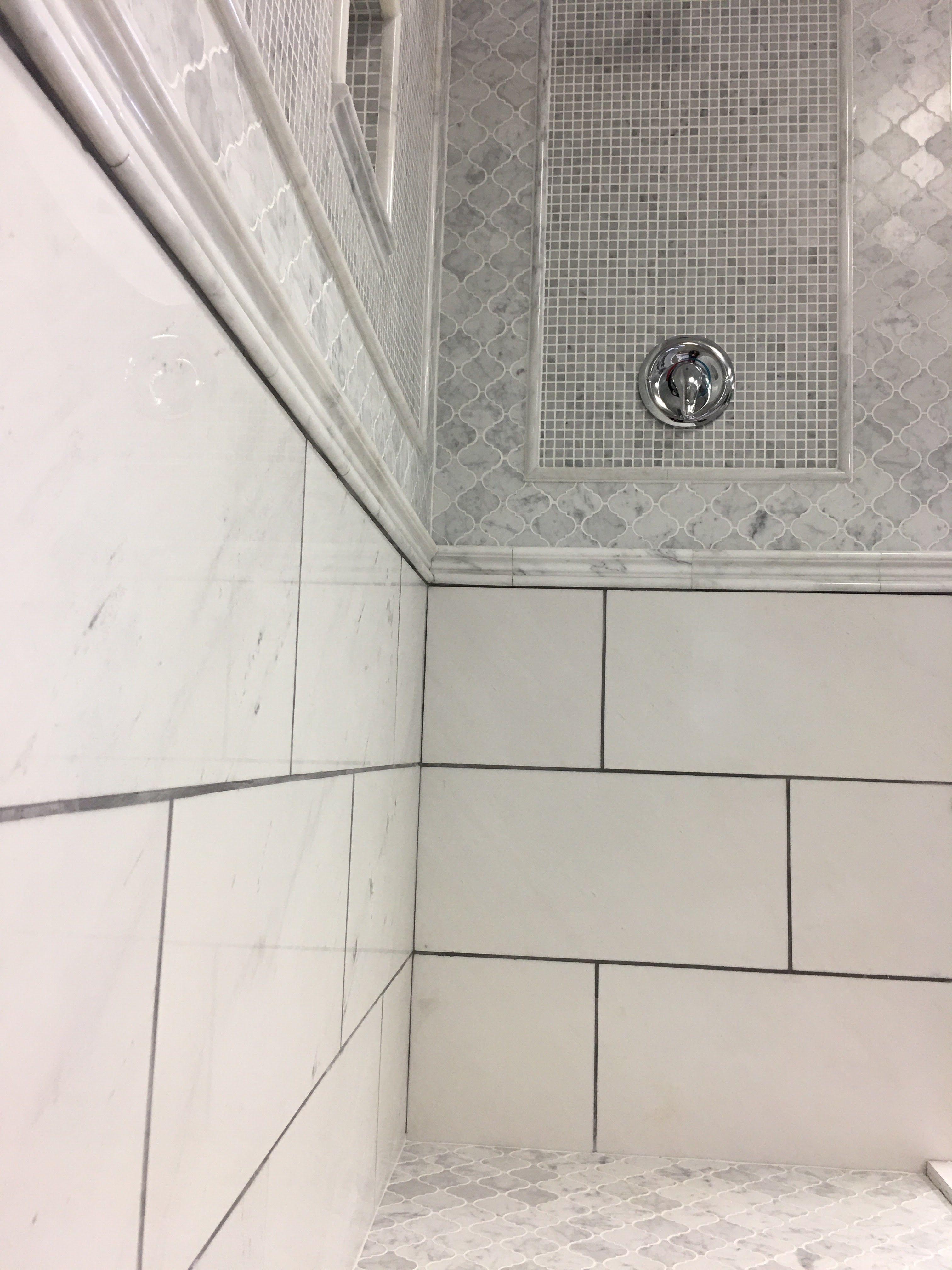Beautiful Marble Shower Tile Ideas Arabesque Shower Floor 5 8