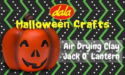 Learn how to sculpt and paint your own Air Drying Clay Jack O' Lantern