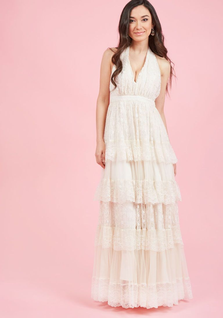 Layered Love Maxi Dress in Ivory in XL | Pinterest