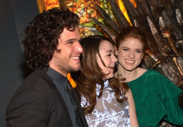 Kit Harington, Rose Leslie and Maisie Williams at event of ...